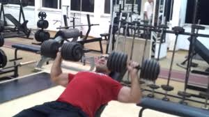 incline dumbbell bench press 100 lb x 9 45 kg x 9 reps youtube