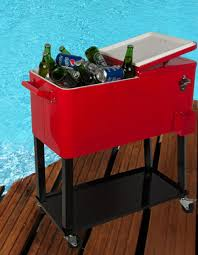 Trinity Stainless Steel Cooler by Amazon Com Hio 80 Qt Outdoor Patio Cooler Table On Wheels