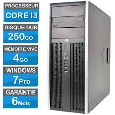 ordinateur de bureau windows 7 pas cher pc bureau hp elite 8300 mt corei3 250go 4 go ram windows 7 prix