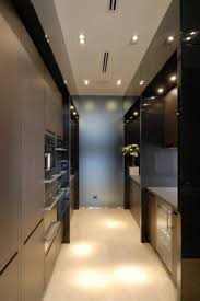 Ideas For A Galley Kitchen Galley Kitchen Ideas With Modern Lighting And Wooden Cabinets