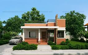 A 1 Story House 2 Bedroom Design Rommell U2013 One Storey Modern With Roof Deck Pinoy Eplans
