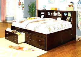 twin captains bed with bookcase headboard twin bed with drawers and bookcase headboard kitlab co