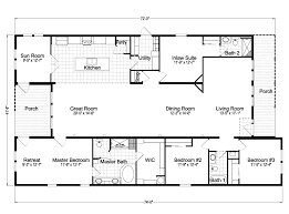 floor plans with great rooms casita iii tl42744a manufactured home floor plan or modular floor