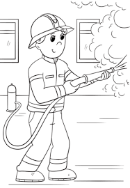 cartoon firefighter coloring free printable coloring pages