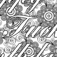 nasty b tch coloring page the swearing from pictographique on