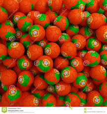 halloween types background portugal football balls many 3d render background stock