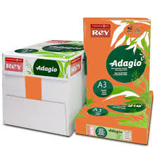 paper ream box a3 80gsm adagio orange paper wl coller ltd