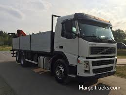 volvo 680 truck volvo fm 12 300 km 6x2 z dzwigiem palfinger do budowlanki flatbed
