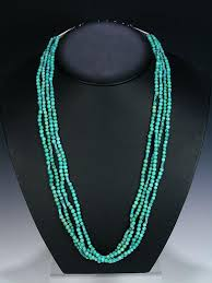 indian beaded necklace images Native american indian jewelry 4 strand turquoise beaded necklace jpg