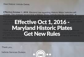 Ohio Vanity Plates Effective Oct 1 2016 U2013 Maryland Historic Plates Get New Rules