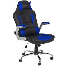 blue leather swivel chair bcp deluxe ergonomic racing style pu leather office chair swivel