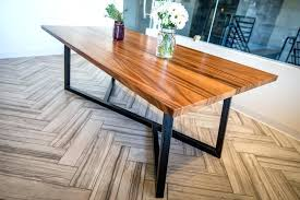 reclaimed wood table with metal legs wood and metal dining table wonderful table with metal base for wood