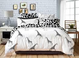 Giraffe Bedding Set Black And White Giraffe Bedding Sets 100 Cotton Bed Sheets Buy