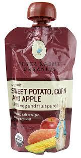 rabbit organics rabbit organics sweet potato corn and apple pouches