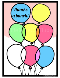 crafts balloon thank you coloring page