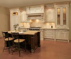 Two Toned Kitchen Cabinets by Decor Two Tone Kitchen Cabinets And Tile Backsplash With