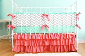 Gray And Pink Crib Bedding Bedding Grey And Pink Crib Bedding Sets Coral Chevron Baby Gray