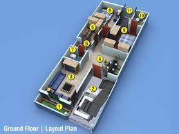 home design for 20x50 plot size ground floor layout plan 3 bsk homes infrastructure p ltd