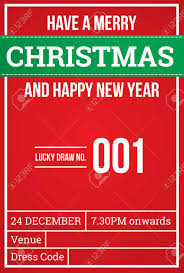 Christmas Invitation Card Christmas Invitation Card Lucky Draw Royalty Free Cliparts