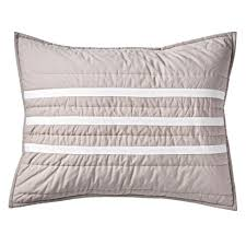 black quilted pillow sham the land of nod