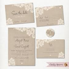 Post Card Invitations Wedding Invitation Save The Date Postcard Lace And Linen Rsvp
