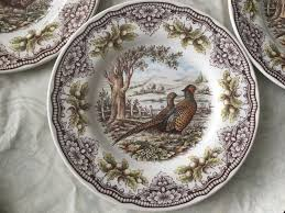 the victorian english pottery pheasant homeland lunch salad