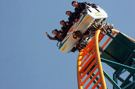 speed of roller coaster oakwood theme park thrill seekers stranded 100ft in air on speed