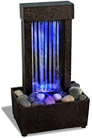 indoor fountain with light amazon com ok lighting water fountain with led light 8 0 home