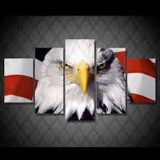 aliexpress com buy 5 piece canvas art new american eagles usa