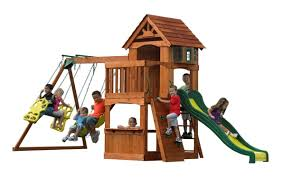 backyard discovery atlantis swing set u0026 reviews wayfair