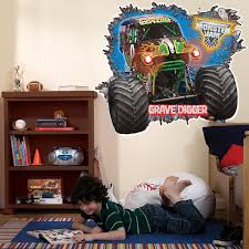 grave digger north carolina monster truck monster jam 3d giant wall decals birthdayexpress com