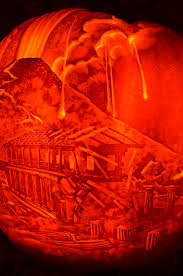 one day in pompeii u201d the 2013 panoramic pumpkin lantern carving