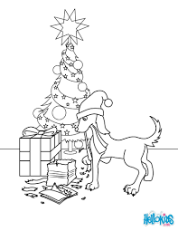 hedgehog decorated for christmas coloring pages hellokids com
