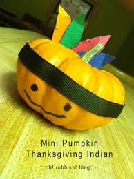 mini pumpkin indian thanksgiving crafts children