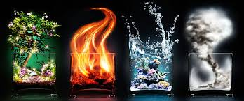 earth air water the four elements with designs by