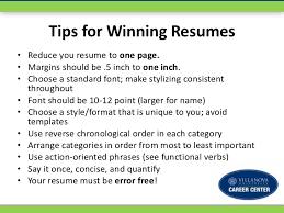 a winning resume format resume format