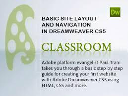 tutorial website dreamweaver cs5 learn how to create a website with adobe dreamweaver cs5