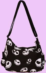 black canvas bag with skellington nbx kawaii bags bags