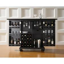 Office Bar Cabinet Crosley Cambridge Expandable Bar Cabinet In Black Other Home