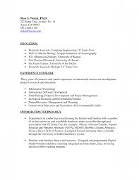 Sample Resume Format For Zoology Freshers by Biology Sample Resume Free Resume Example And Writing Download