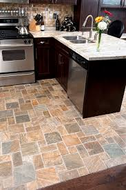 slate floors how would this look with green granite and light