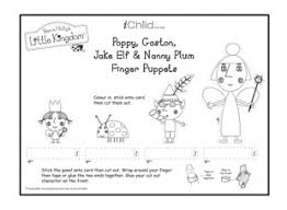 finger puppets poppy gaston jake elf u0026 nanny plum black