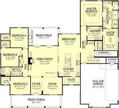 farm house plan farmhouse style house plan 4 beds 2 50 baths 2686 sq ft throughout