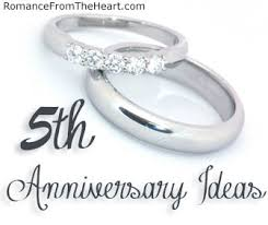 5th anniversary gift ideas 5th anniversary ideas romancefromtheheart