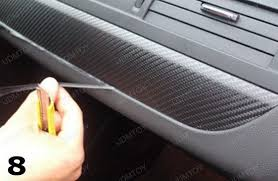 Car Upholstery Adhesive How To Apply Carbon Fiber Vinyl Sheet For Car Interior Trim