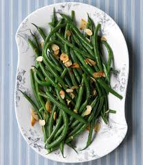 green beans with toasted garlic and almonds recipe vegetable