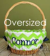 easter basket liners personalized personalized easter basket liner yellow chevron basket liners