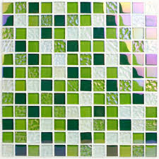 green glass tiles for kitchen backsplashes stained glass mosaic tiles green glass tile backsplash