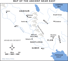Ancient Map Of Middle East by Map Of Mesopotamia Near East Bible History Online
