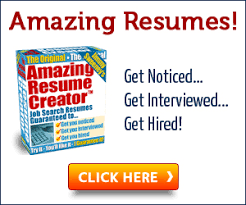 Amazing Resume Creator by Resume Writing Tips